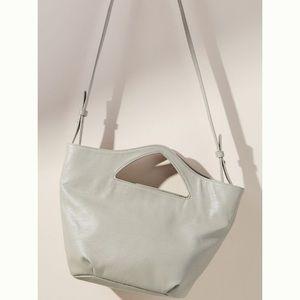 Anthropologie Agnes Grey Silver Tote Bag
